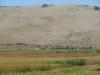 Поглед към Мека Црев (част Три Уши) от Алдомировското блато и международния път София-Калотина
